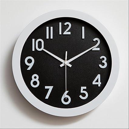wall clock shop Casa Silencio 10 Pulgadas Pared Reloj/creativos Modernos Relojes, White