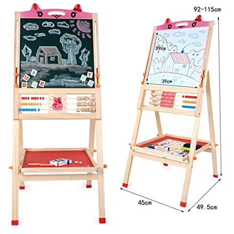 Amazon.com: XNYY BABY Childrens Art Easel Double-Sided ...