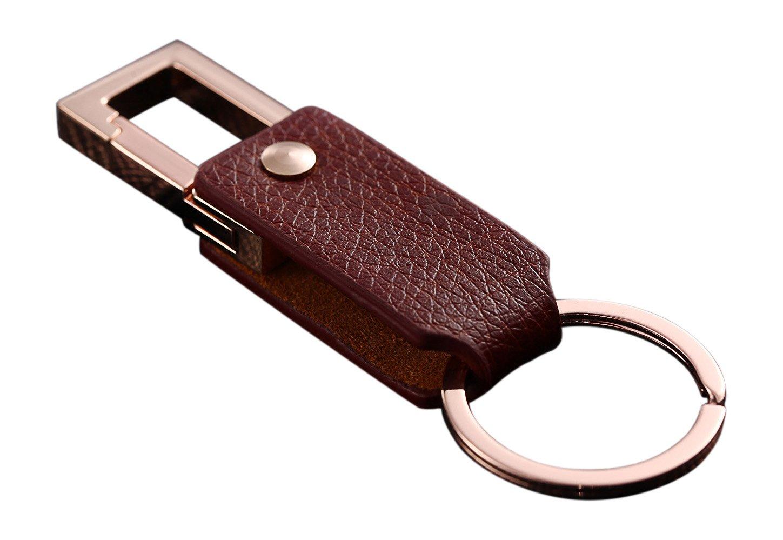 Cerbery/® Femmes Hommes Keychain porte-cl/és porte-cl/és porte-cl/és voiture photo gravure anneau Argent Porte-cl/és /él/égant en cuir avec anneaux et bo/îte-cadeau Cadeau