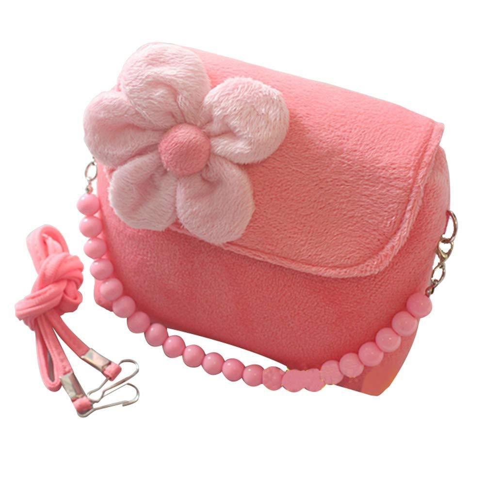 9f48956b6e Toyvian Super Cute 3D Design Flower Girl Purse Messenger Bag Kids Shoulder  Bag Crossbody Handbag(Pink)  Amazon.co.uk  Kitchen   Home