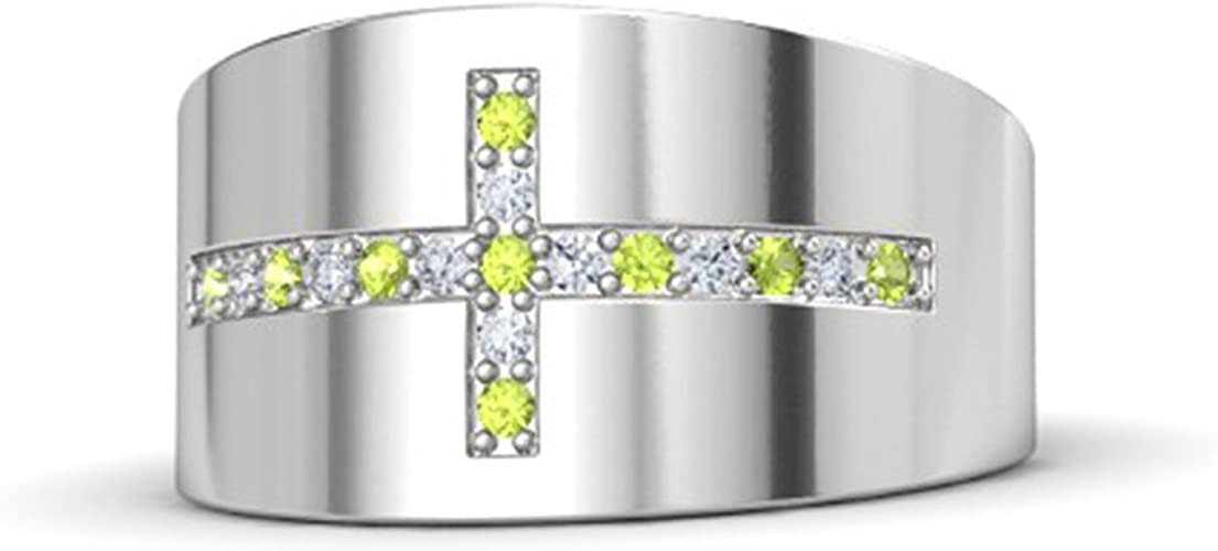 Ashley Jewels Fathers Day Collection-Mens Simulated Diamond Studded 14K Yellow Gold Plated Band Ring For Dream Hero DAD