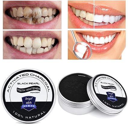Amazon.com: Polvo blanqueador de dientes de bambú activado ...
