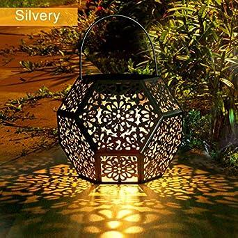 Farol Solar Exterior Jardin GolWof LED Lámpara Solar Jardín Luz ...