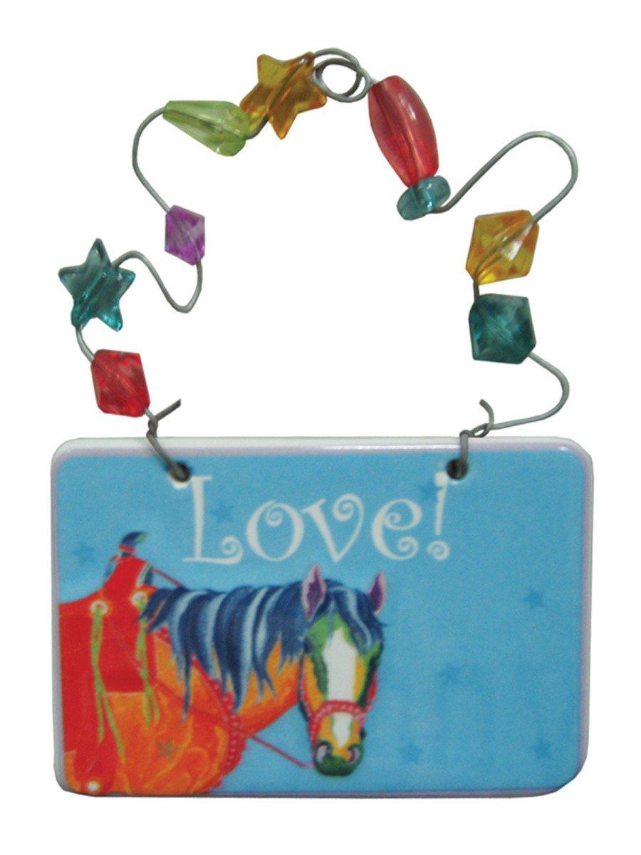 StealStreet SS-KI-HG566 Love! Horse Ceramic Gift Tag