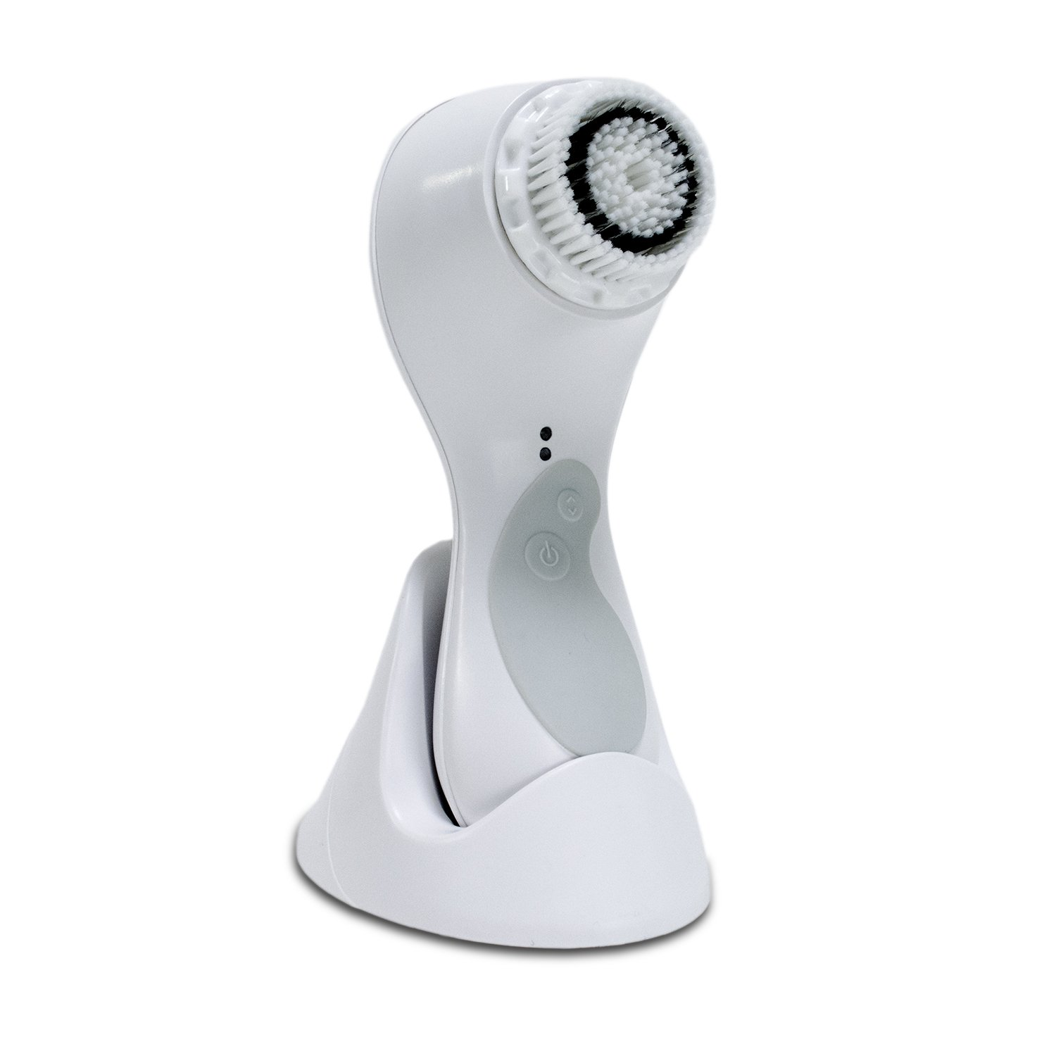 Healthpro Professional Sonic Rechargable Exfoliating Cleansing Face Brush with 2 Heads and Charger