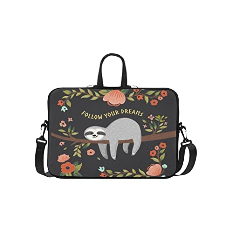 9a5e4507bcb7 InterestPrint Inspirational Laptop Sleeve Case Bag, Cute Sloth Shoulder  Strap Laptop Sleeve Notebook Computer Bag 15-15.6 Inch for MacBook Pro Air  ...