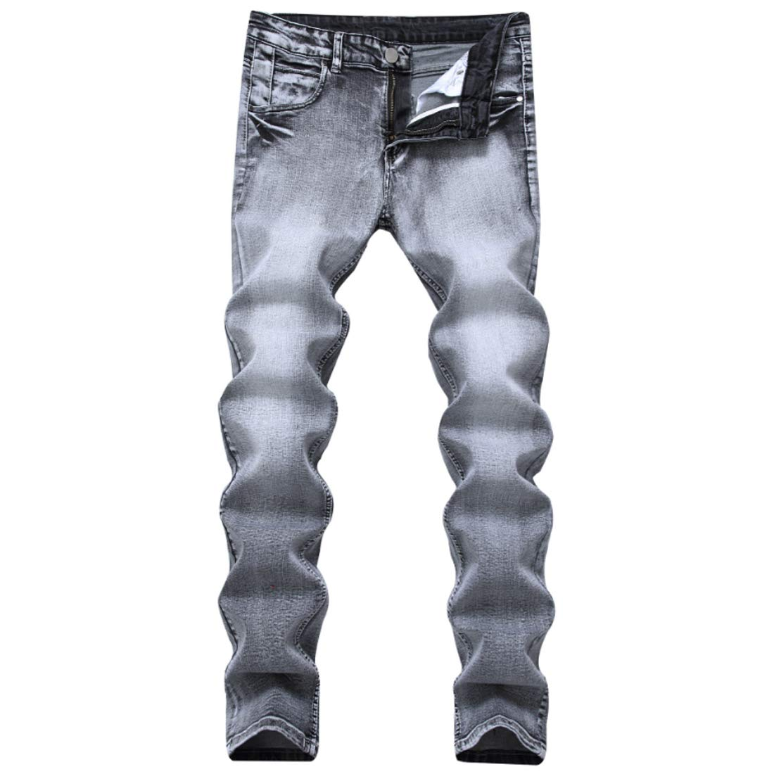 ff926b0145f75 Grey Fulision Men's Jeans Casual Denim Pants Tapered Tapered Tapered ...