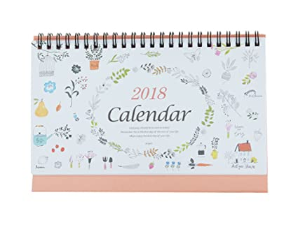 stand up desk calendar for office september 2017 through december 2018