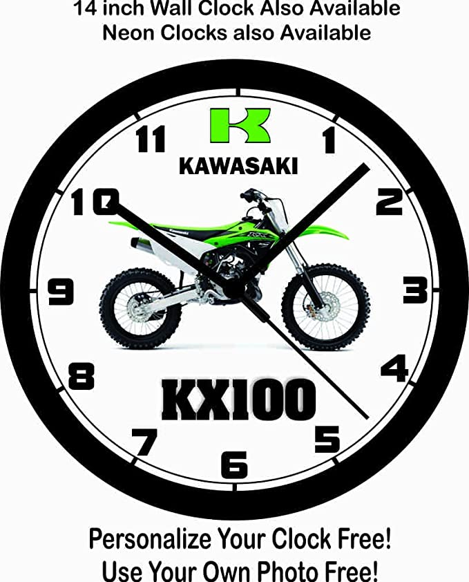 Amazon Com 2016 Kawasaki Kx100 Motocross Bike Wall Clock Free Usa