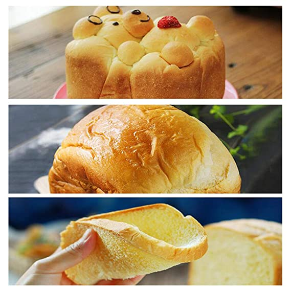 LJ-MBJ Máquina para Hornear Pan, Ajuste Libre de Gluten, Completamente automático Casa Inteligente Maquina de Pan, Multifunción Desayuno Pan Tostado al ...