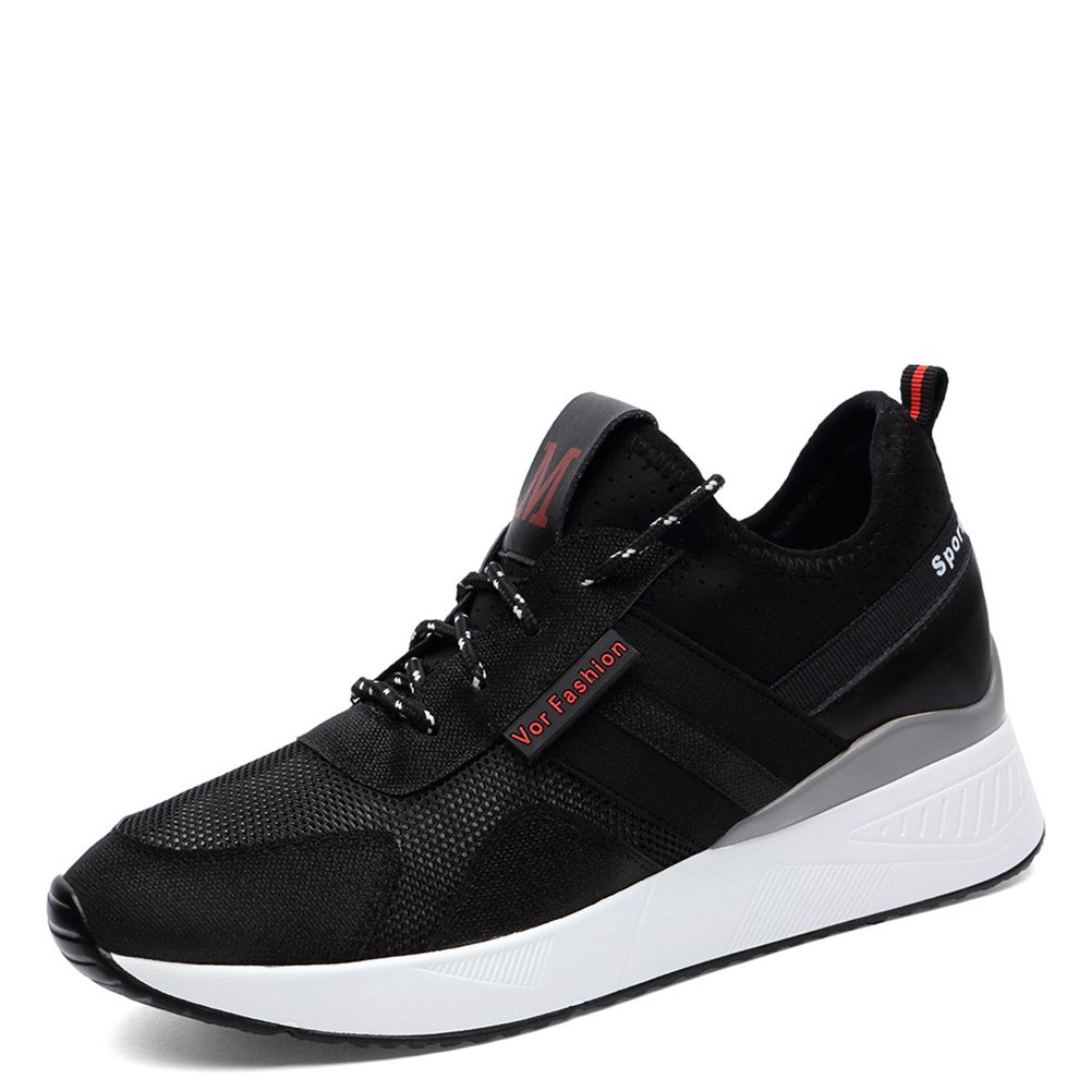 47a411ba0b06 Women s Sneakers Casual Shoes Sports Shoes Summer Shoes 2018 New Students  Thick Bottom Light Casual Breathable Ladies Flat Running Shoes (Color    Black
