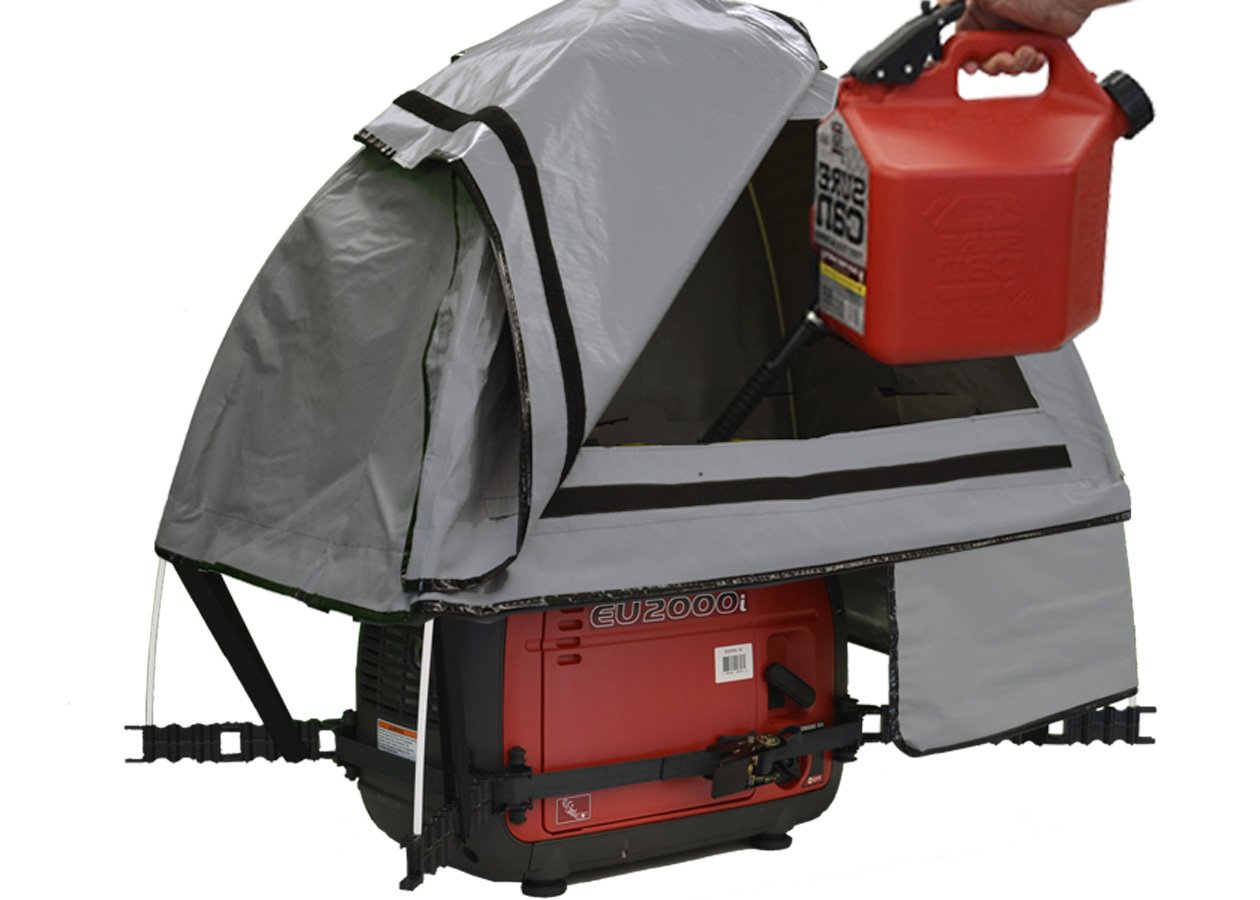 GenTent 10K Generator Tent Running Cover - XKI Kit (Standard, GreySkies) - Compatible with 1000w-3000w Inverter Generators by GenTent Safety Canopies (Image #3)