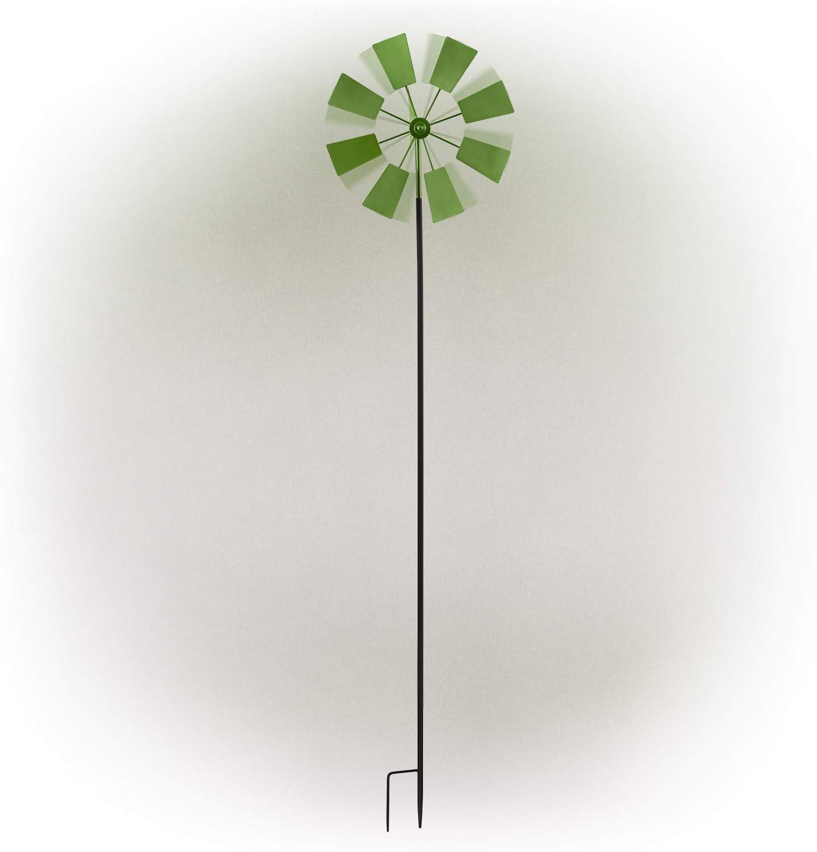 "Alpine Corporation KIY102GN Metal Windmill Stake, 52"", Multicolor"