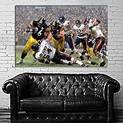 #02 Poster Football Jerome Bettis Urlacher 40x60 inch (100x150 cm) on 8mil Paper