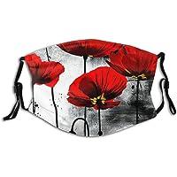 Protección Facial cálida algodón Unisex Moderno Flor de Amapola roja