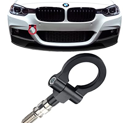 JGR Track Racing Style Tow Hook Towing Eye CNC Aluminum Screw On Car Accessories Front Rear Bumper for BMW 3 Series 318 320 323 325 328 330 335 316 340 F30 F31 F34 GT 2012+ Black: Automotive