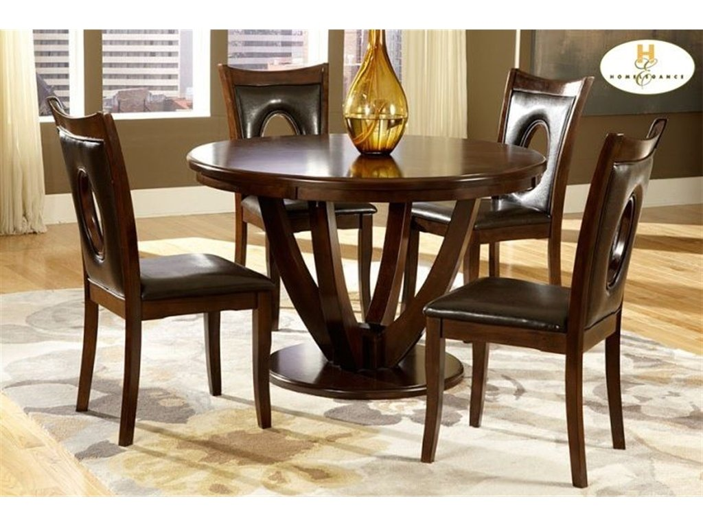 Charmant Amazon.com   Home Elegance 2568 48 VanBure Dining Table In Rich Cherry    Tables