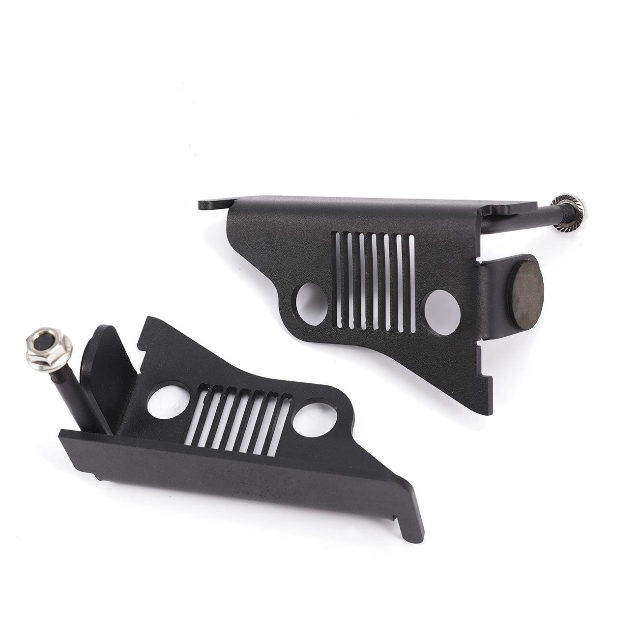AUXMART Foot Pegs for 1997-2006 Jeep Wrangler TJ Black - Pair (Pack of 2) by AUXMART (Image #7)
