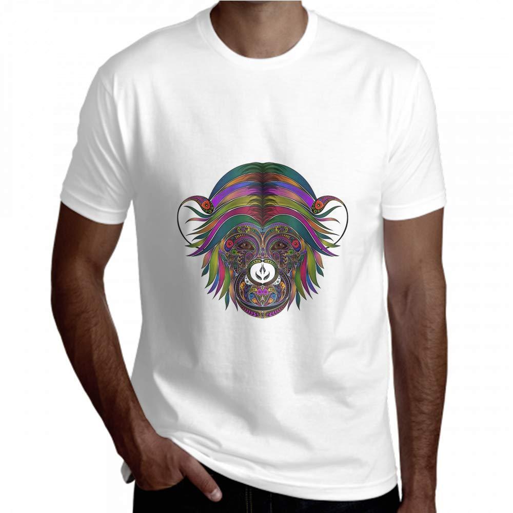 Short Sleeve Shirt Men Tribal Ethnic Monkey King Animal Short Sleeve Tees Men