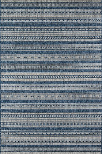 "Novogratz Villa Collection Tuscany Indoor/Outdoor Area Rug, 5'3"" x 7'6"", Blue"
