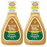 Ken's Steak House Honey Mustard Lite Dressing 16 Oz. (Pack of 2)