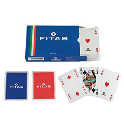 Juego - Cartas Burraco Fitab de plástico I Juego de cartas - (ITA Toys JU00270)