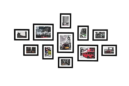 WOOD MEETS COLOR Wall Photo Frames multiple photos, Including White ...