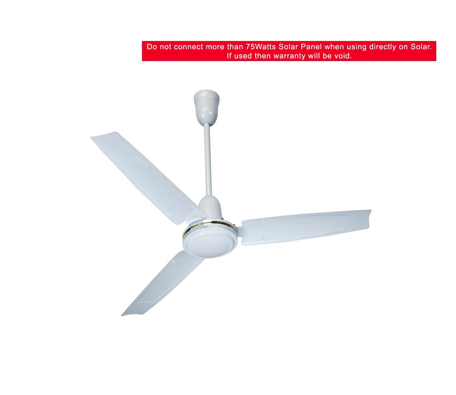 Solar DC Ceiling Fan 12V 32Watts BLDC Made in India Blade Size