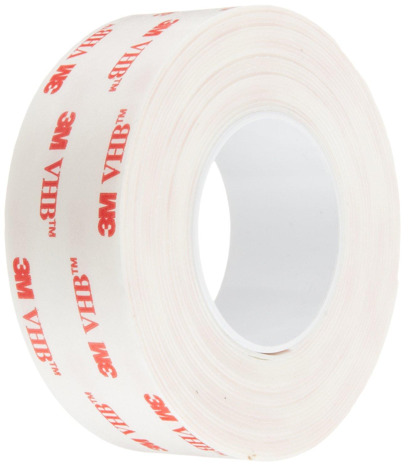 3M VHB Tape 4930, 1 in width x 5 yd length (1 Roll)