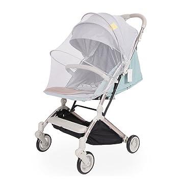 Red elástica de malla para cochecito de bebé, sillas de paseo, carrito de bebé, cubierta completa, mosquitos, color blanco ...