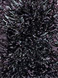 Round 3' Indoor Swag Premium Shag Area Rug - Purple Jazz 75 oz - with Premium BOUND Polyester Edges.