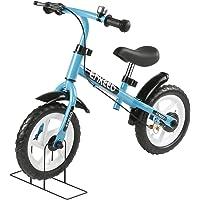 ENKEEO Bicicleta de Equilibrio sin Pedales para Infantiles, Marco de Acero al Carbono, Manillar y Asiento Ajustable, Timbre y Freno de Mano