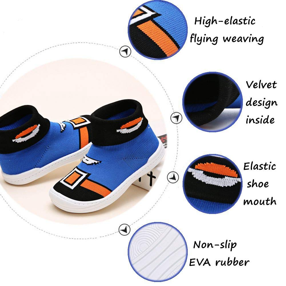 YUHUAWYH Baby Boys Girls Warm Anti Slip Shoes Socks Toddler First Walker Shoes Slipper Socks for Age 0-6 Months to 4-5 Years