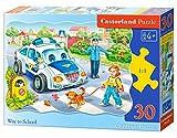 Castorland CSB03389 Classic Way to School Contour Jigsaw Puzzle, 30 Pieces Set, Multicolour
