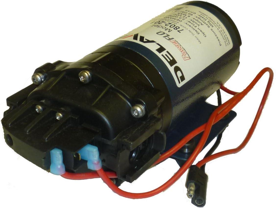Delavan 7800 Series Diaphragm Pump 12V, 60 PSI, 2.0 GPM, Demand Pump, QA Ports