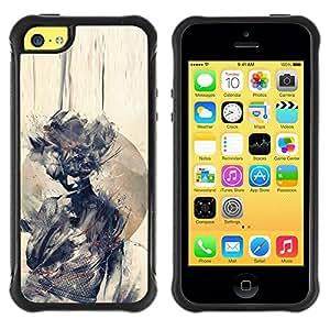 "Hypernova Defender Series TPU protection Cas Case Coque pour Apple iPhone 5C [Acuarela Mujer Significado Profundo""]"