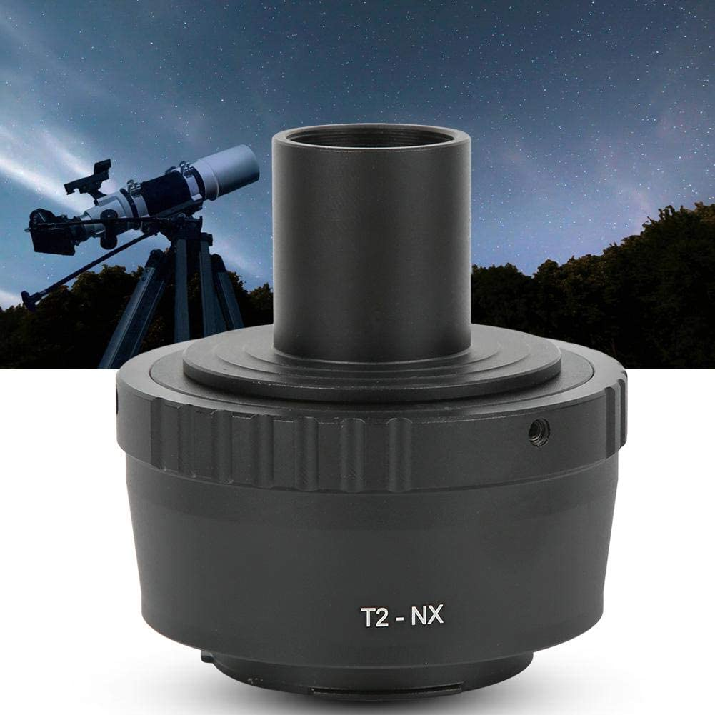 Metal Microscope Adapter Ring 23.2mm T Mount Microscope Eyepiece for Samsung NX Mounts Mirrorless Camera Microscope Eyepiece Adapter
