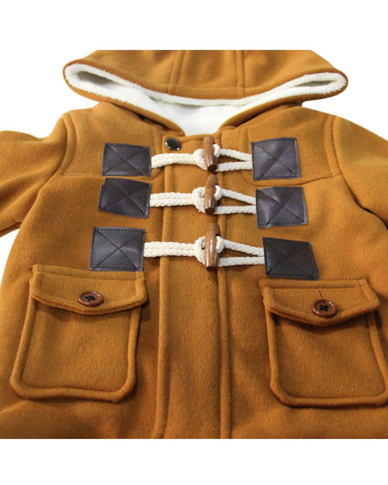 Ekaliy Winter Toddler Boy Kids Fleece Coats Jackets with Hoodies Khaki 4t by Ekaliy (Image #2)