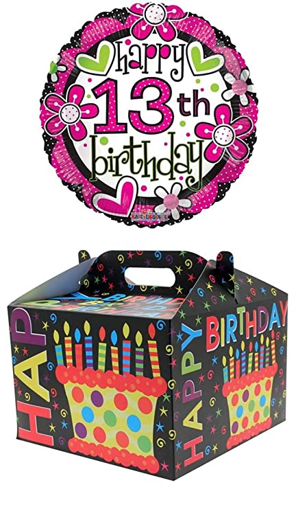 Cards Galore Online Round 18 13th Birthday Foil Helium Balloon In Box