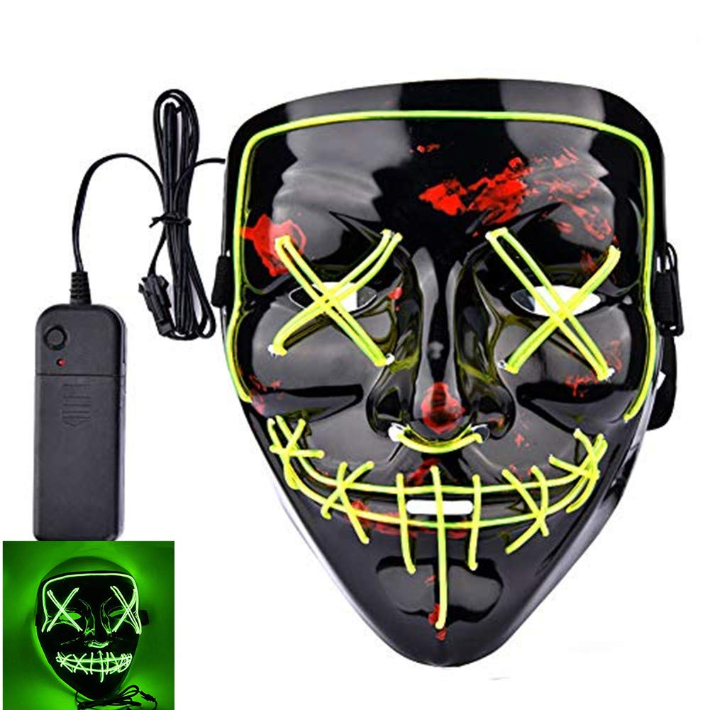 Halloween Scary Mask Cosplay Led Costume Mask for Halloween Festival Party