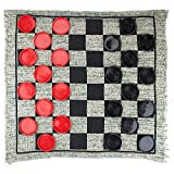 Toys : MIDWAY MONSTERS Giant 3-in-1 Checkers and Mega Tic Tac Toe with Reversible Rug – Indoor/Outdoor Jumbo Board Games for Family Fun & Parties