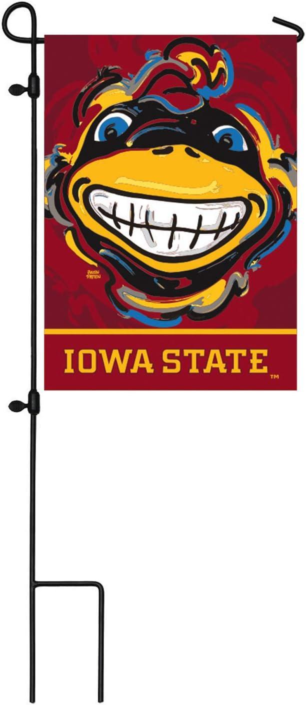 Team Sports America NCAA Iowa State University Suede Garden Flags