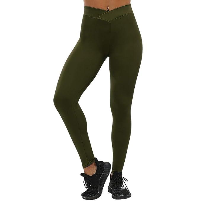 f0b5852966f888 YaMiFan Casual Push Up Leggings Women Summer Workout  Jeggings,Small,ArmyGreen