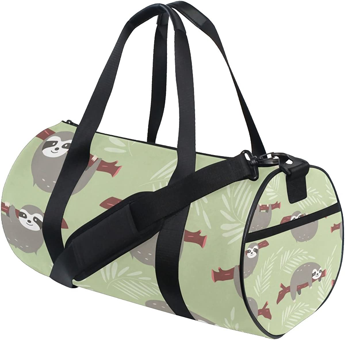 Evolutions Yoga Sloth Travel Duffel Bag Sports Gym Bag For Men