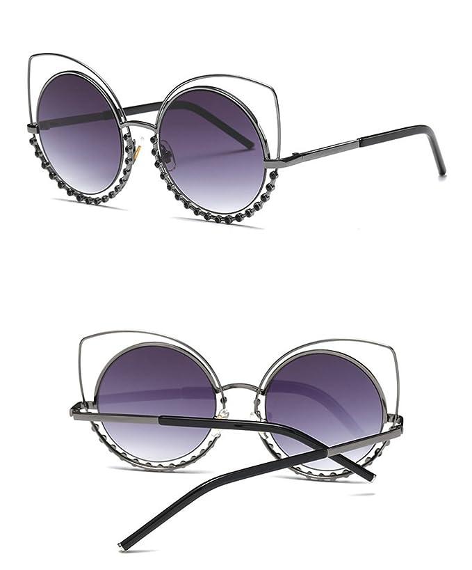 HONG Occhiali da sole fashion avant-garde pannelli riflettenti trapanare gli occhiali da sole OPrTpqEx,