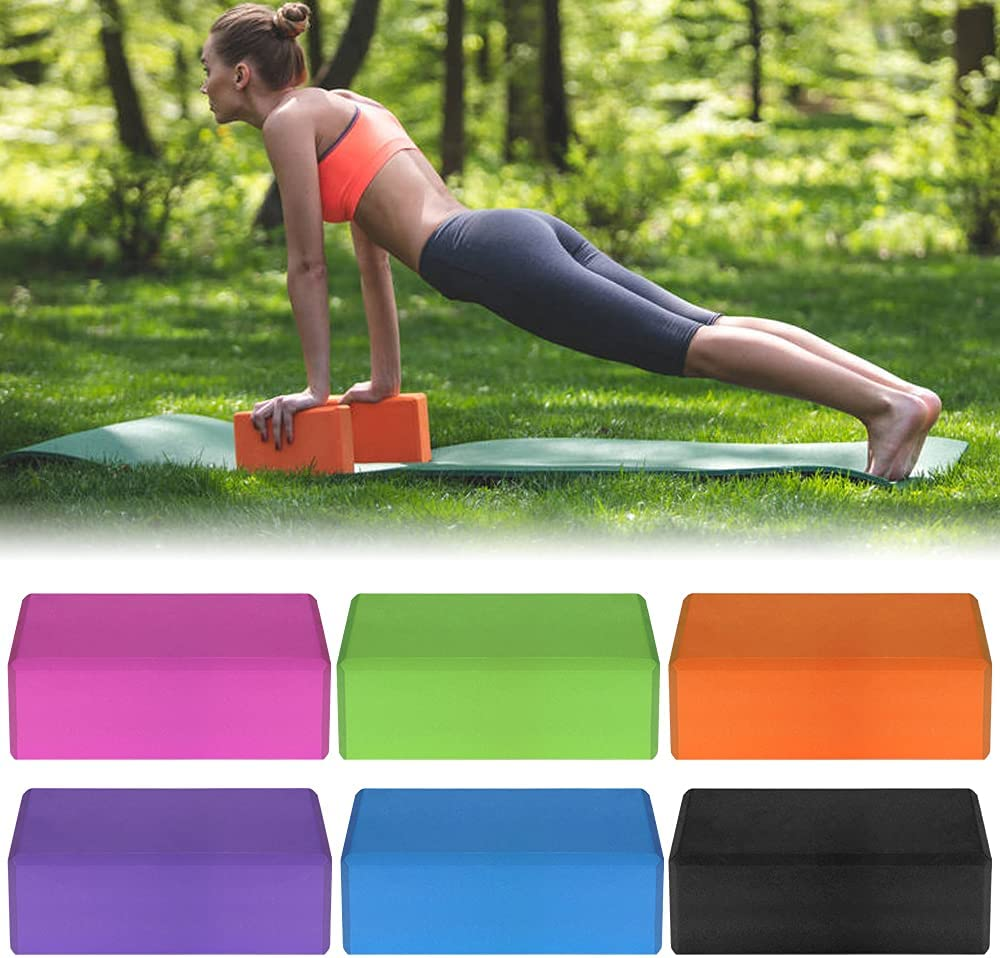 HOT EVA Yoga Blocks Cotton Yoga Strap Stability Blocks Yoga Strap Set Y2D7