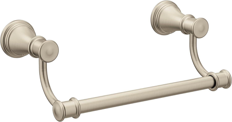Moen YB6486BN Belfield 9-Inch Bathroom Hand Towel Bar, Brushed Nickel, 12