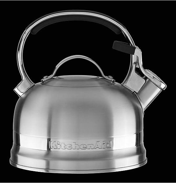 KitchenAid KTST20SBST Bouilloire, Acier Inoxydable, Argent, 20,5 x 20,5 x 23,5 cm
