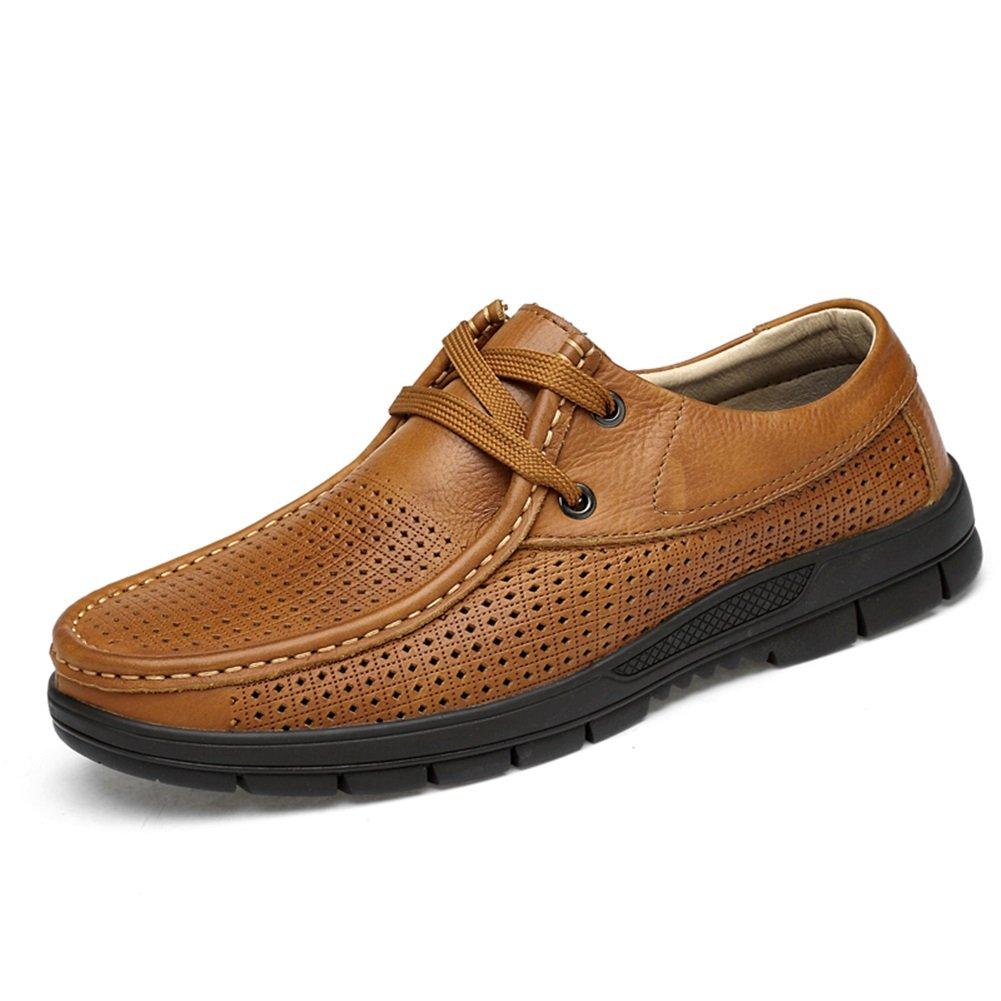 XUE Herrenschuhe Leder Frühling Sommer Fahren Schuhe Comfort Loafers & Slip-Ons Wanderschuhe Breathable Hollow-Out