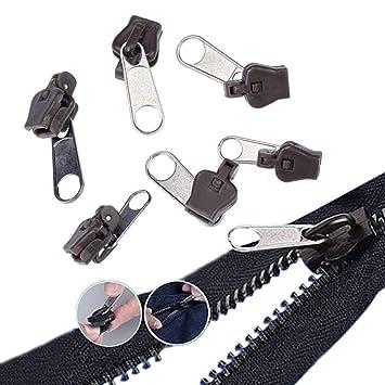 UK 6Pcs Fix A Zipper Zip Slider Repair Instant Removable Mend Rescue Replacement